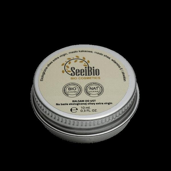 Naturalny balsam do ust oparty na ekologicznych składnikach