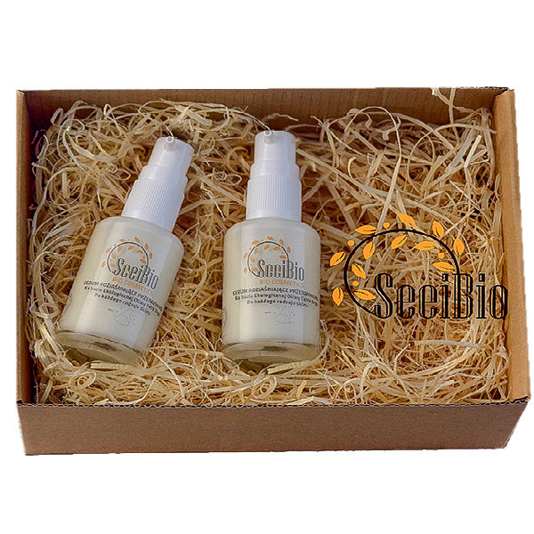 Zestaw naturalne serum rozjaśniające - ekologiczne kosmetyki.